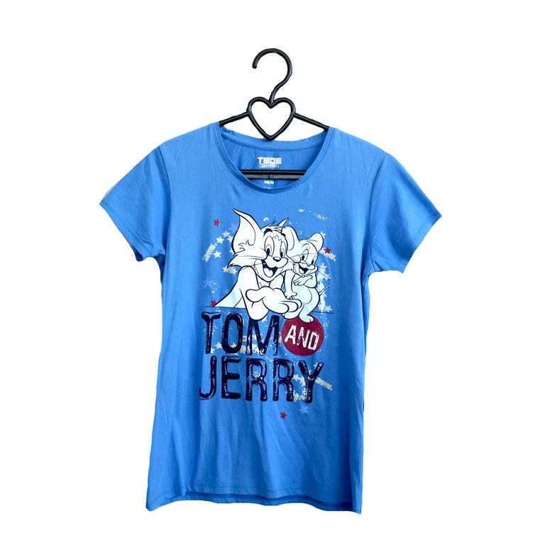 Женская футболка, голубая  в Челябинске