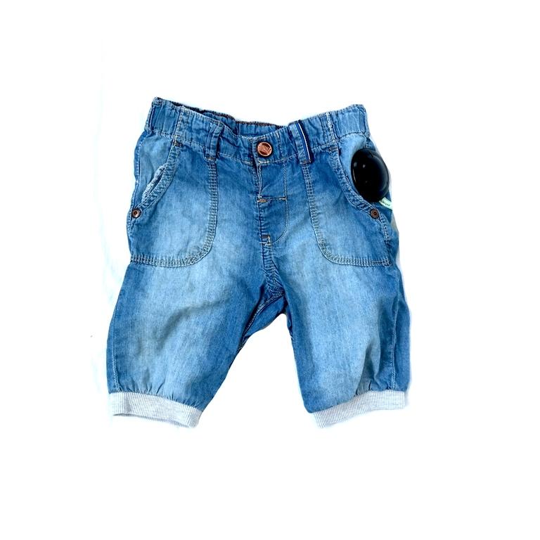Детские джинсовые шорты с подворотами в Челябинске
