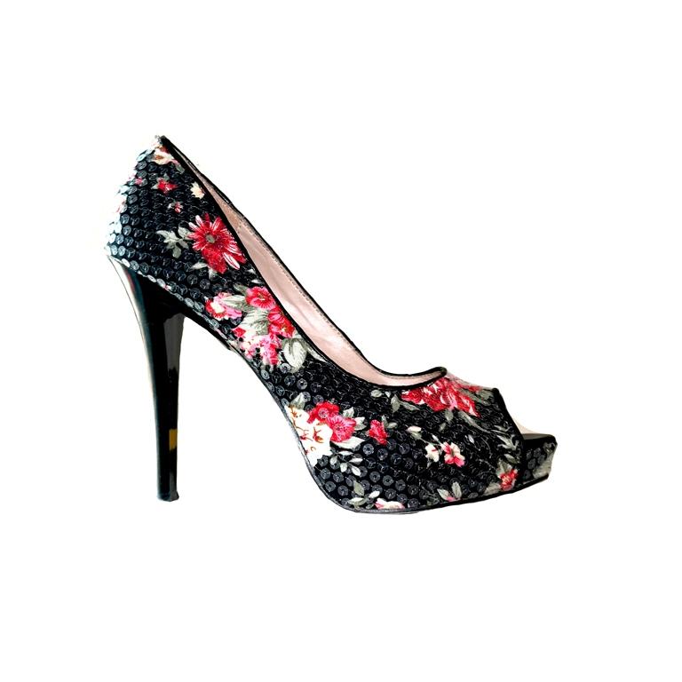 Туфли женские с цветочным принтом в Москве