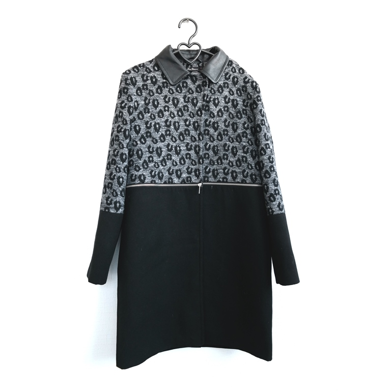 Женское пальто черное с серым в Челябинске