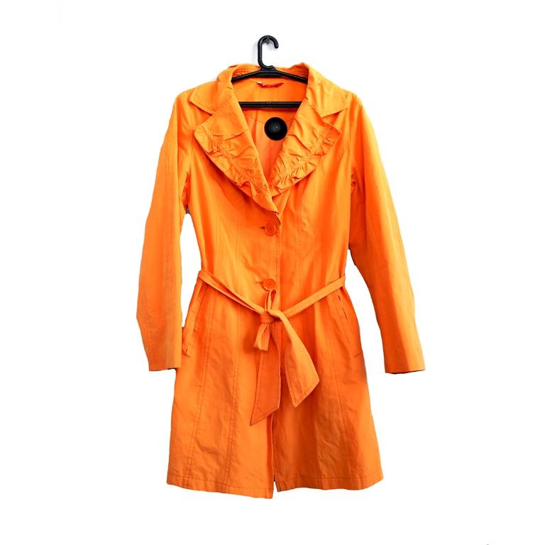 Женский тренч оранжевый в Москве