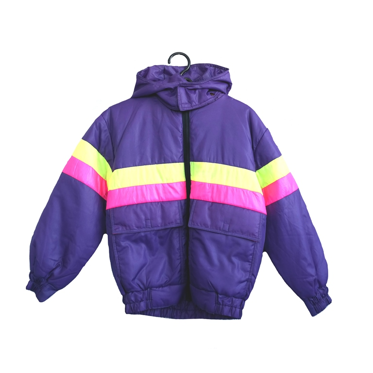 Куртка женская фиолетовая полосатая в Челябинске