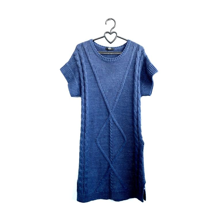 Вязаное женское платье синее в Москве