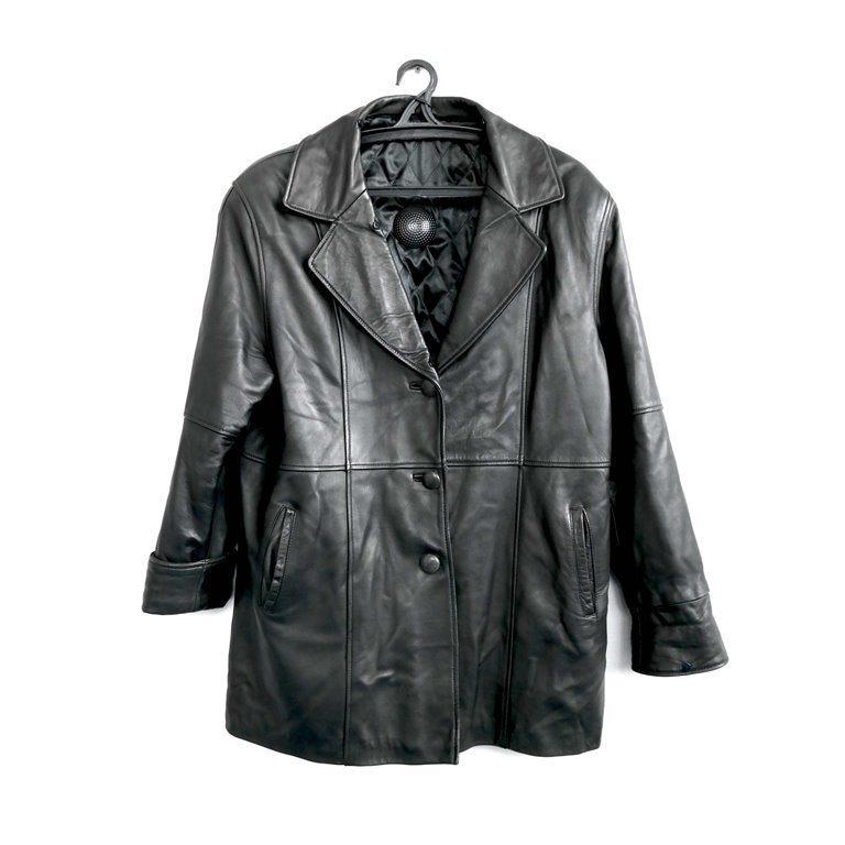 Мужская кожаная куртка черная в Москве