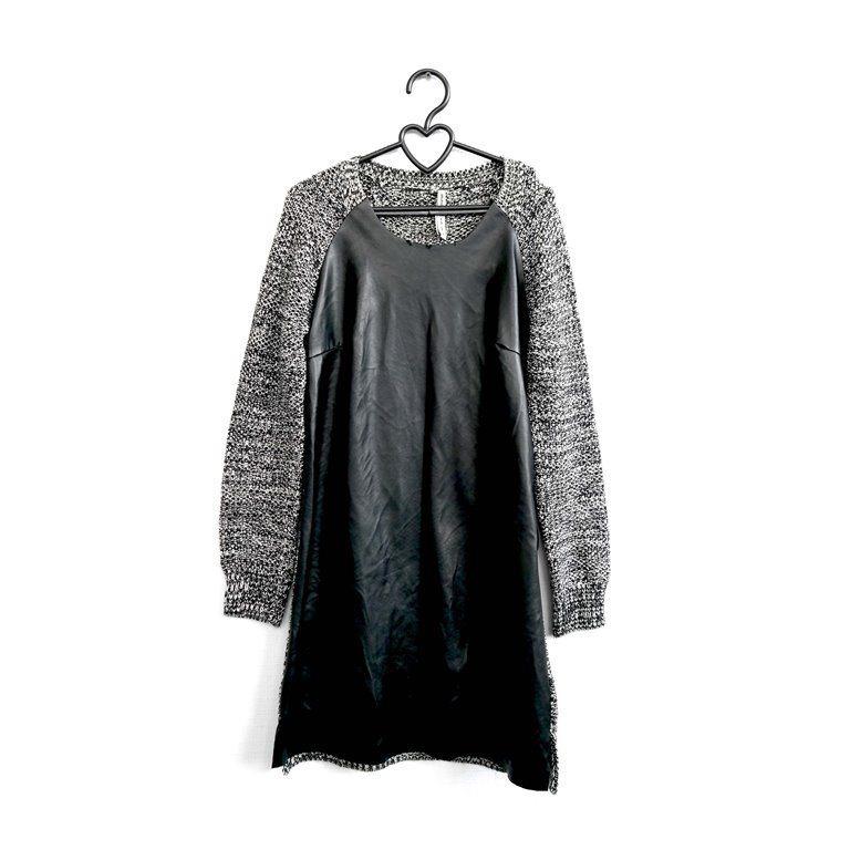 Женское теплое платье серое фактурное в Москве
