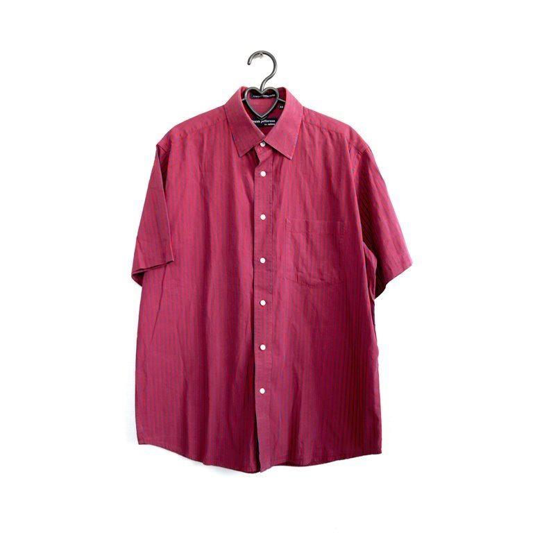 Мужская рубашка с коротким рукавом розовая в Москве