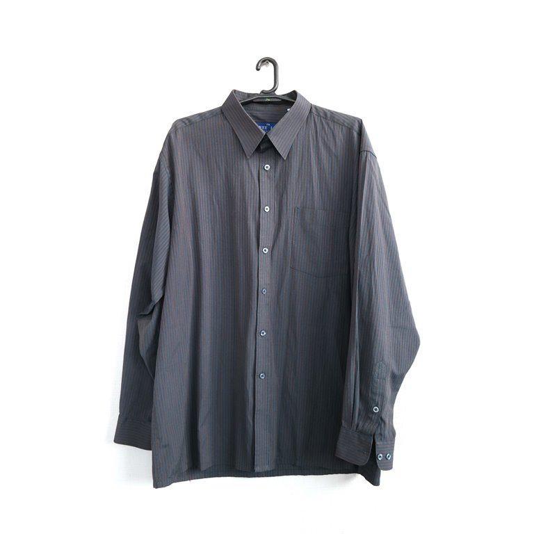 Мужская рубашка с длинным рукавом серая  в Челябинске