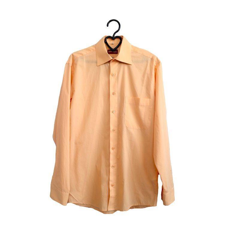 Мужская рубашка с длинным рукавом оранжевая в Челябинске