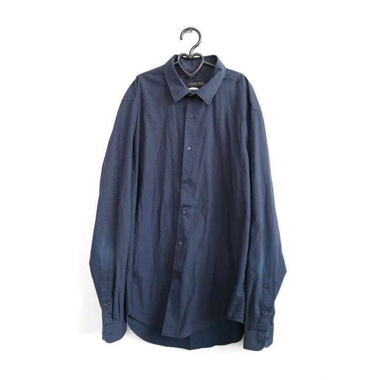 Мужская рубашка с длинным рукавом синяя в Москве
