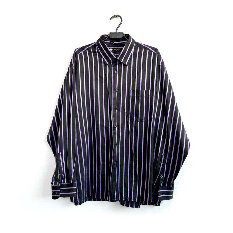 Мужская рубашка с длинным рукавом полосатая в Москве