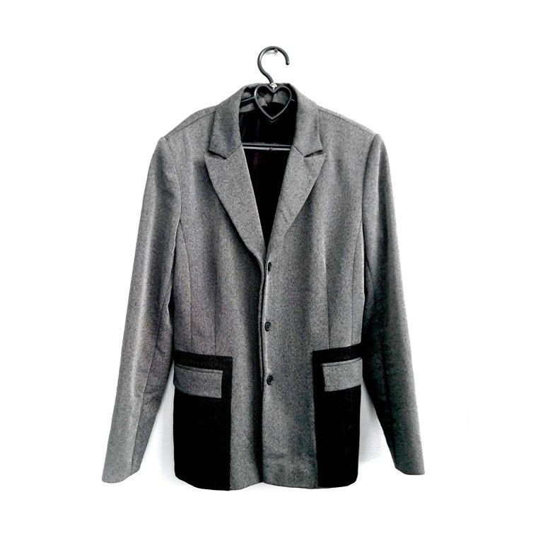 Пиджак мужской серый с черным  в Челябинске