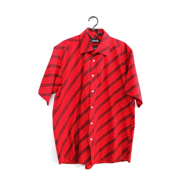 Рубашка мужская с коротким рукавом красная в Челябинске