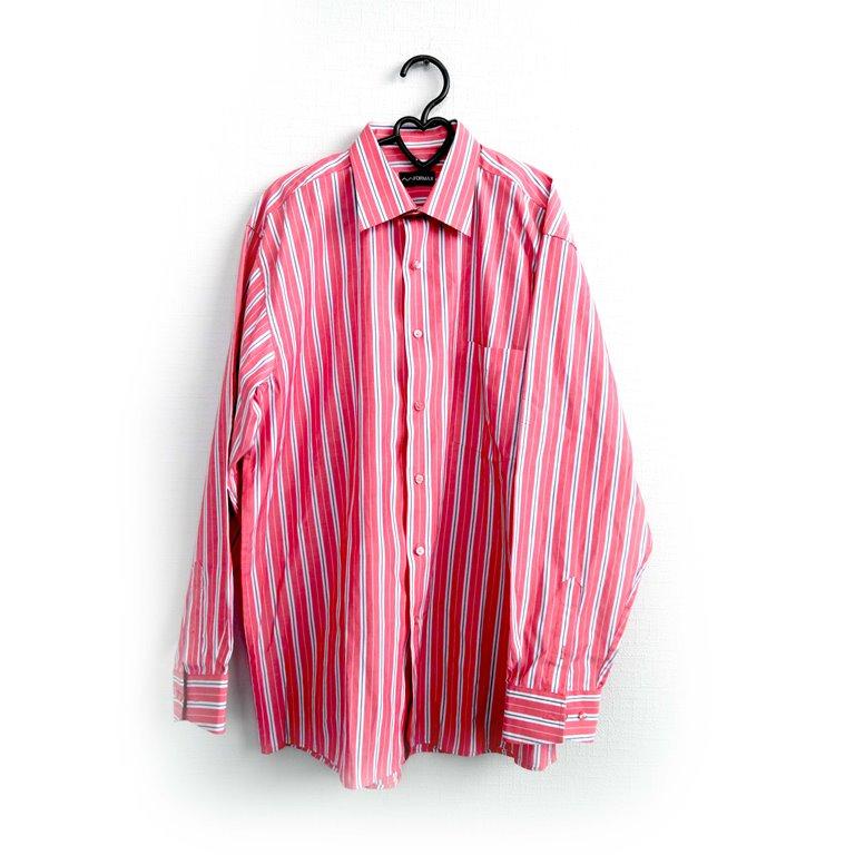 Рубашка мужская розовая в полоску в Челябинске