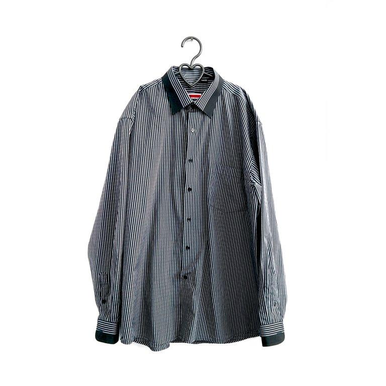 Рубашка мужская серая с черными обшлагами в Челябинске