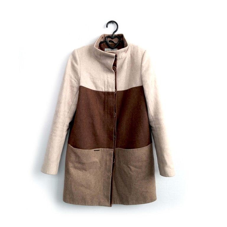 Пальто женское трехцветное в Челябинске