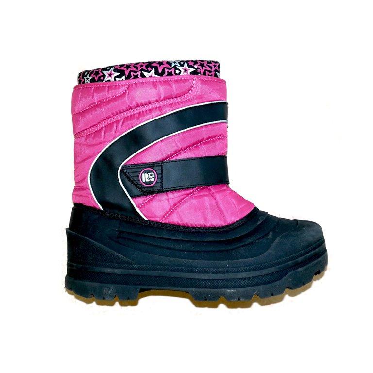Сапоги дутые для девочек розовые с черным в Челябинске