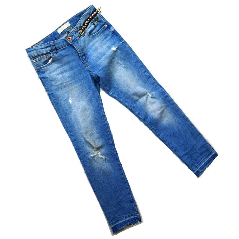 Женские джинсы с бисерными вставками в Москве