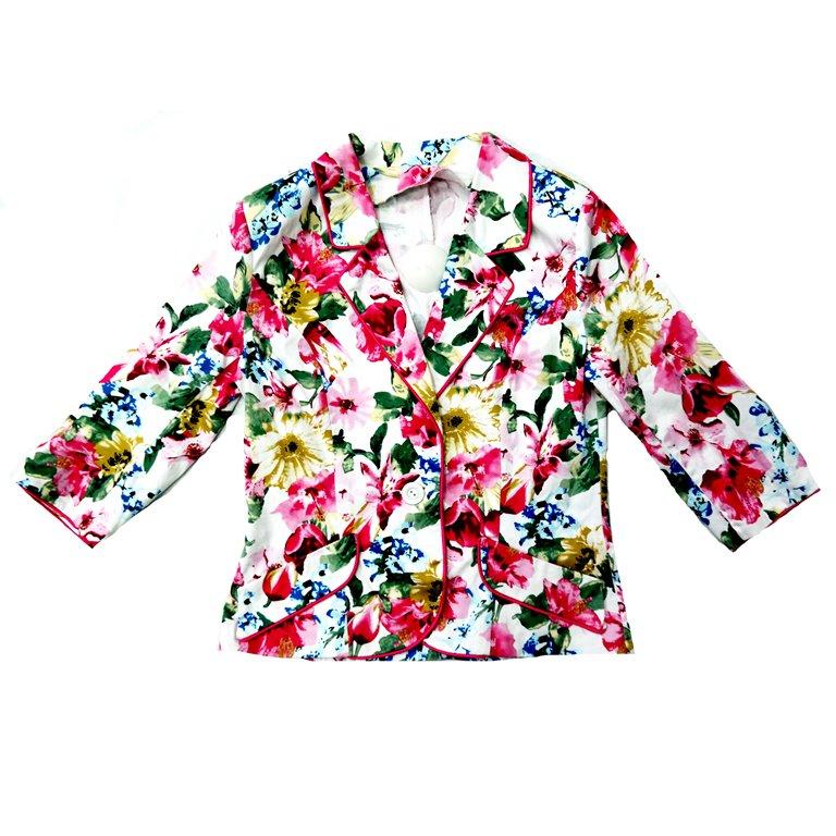 Женский пиджак с цветочным принтом в Челябинске