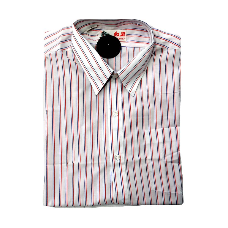 Хлопковая мужская рубашка в полоску с коротким рукавом в Москве