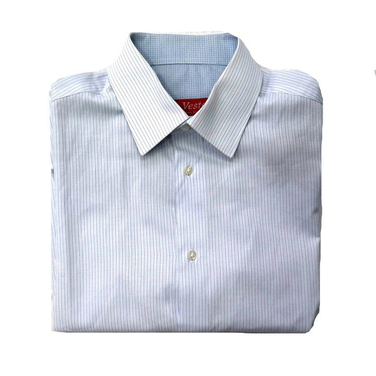 Мужская голубая рубашка. Короткий рукав в Москве