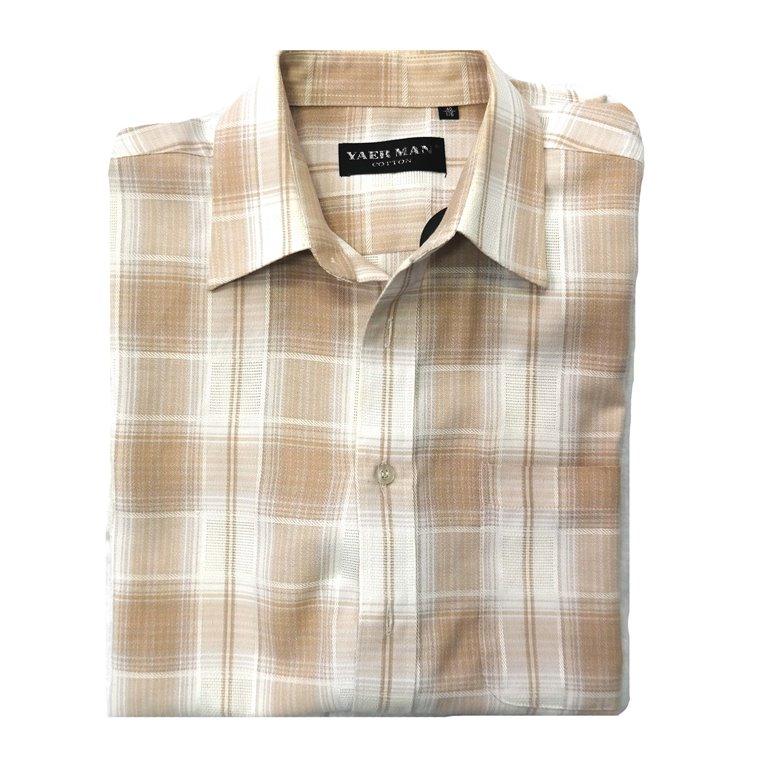 Мужская рубашка в клетку с коротким рукавом в Самаре