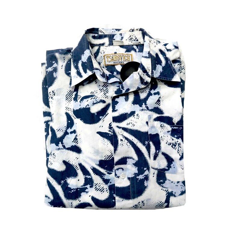 Яркая мужская рубашка с коротким рукавом в Челябинске