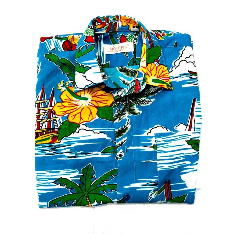Мужская рубашка с гавайским принтом в Москве