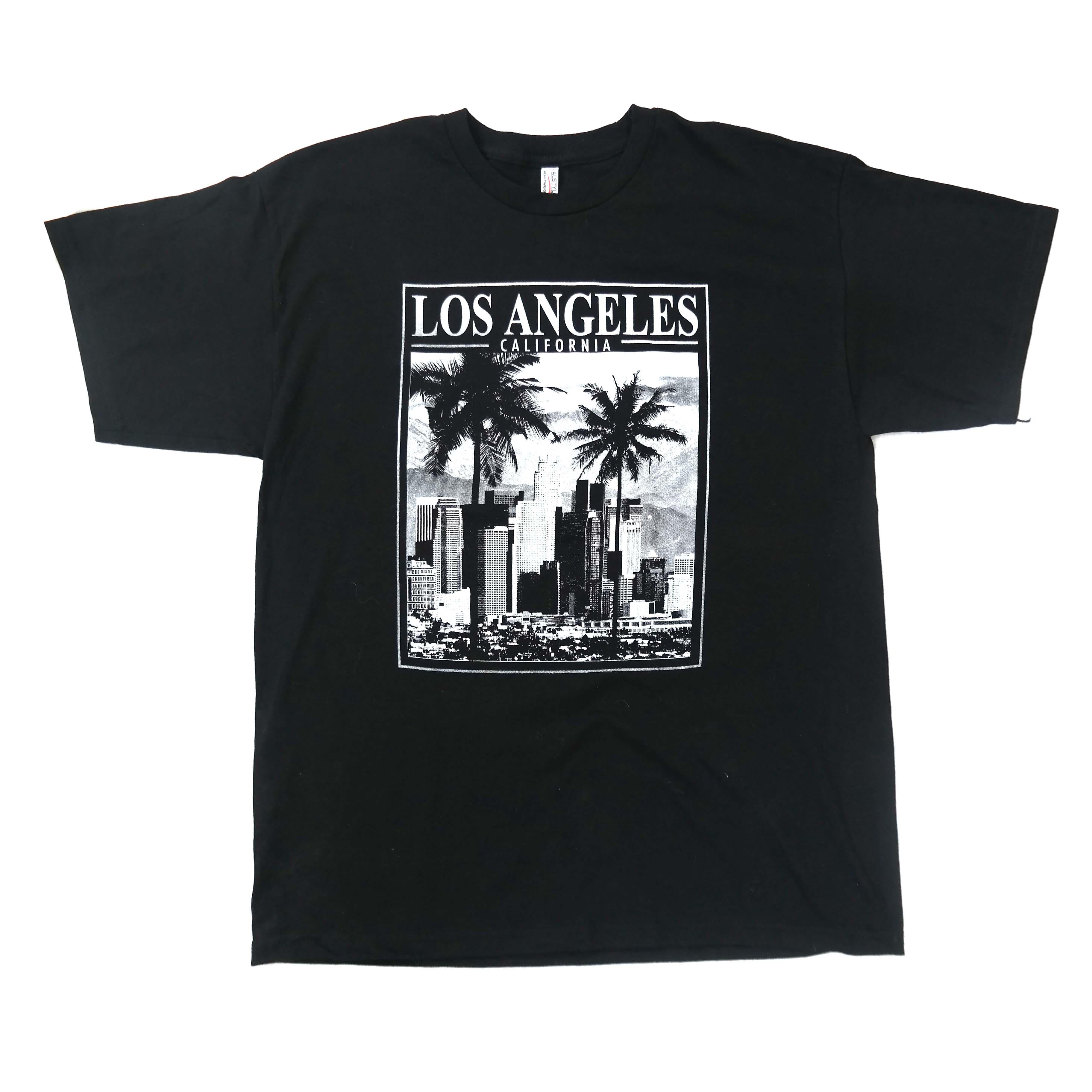 Черная мужская футболка Los Angeles в Челябинске