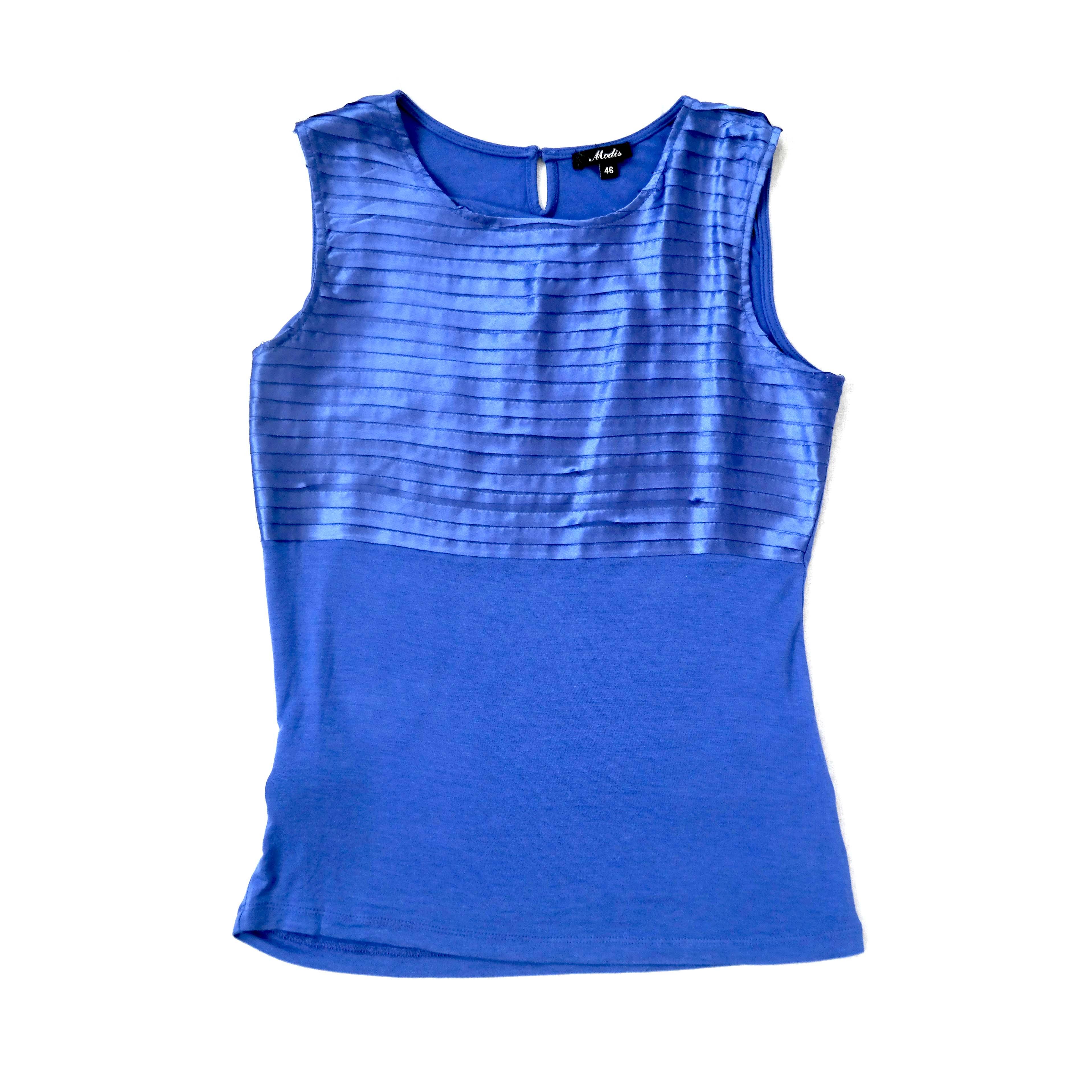 Синяя женская блуза без рукавов в Челябинске