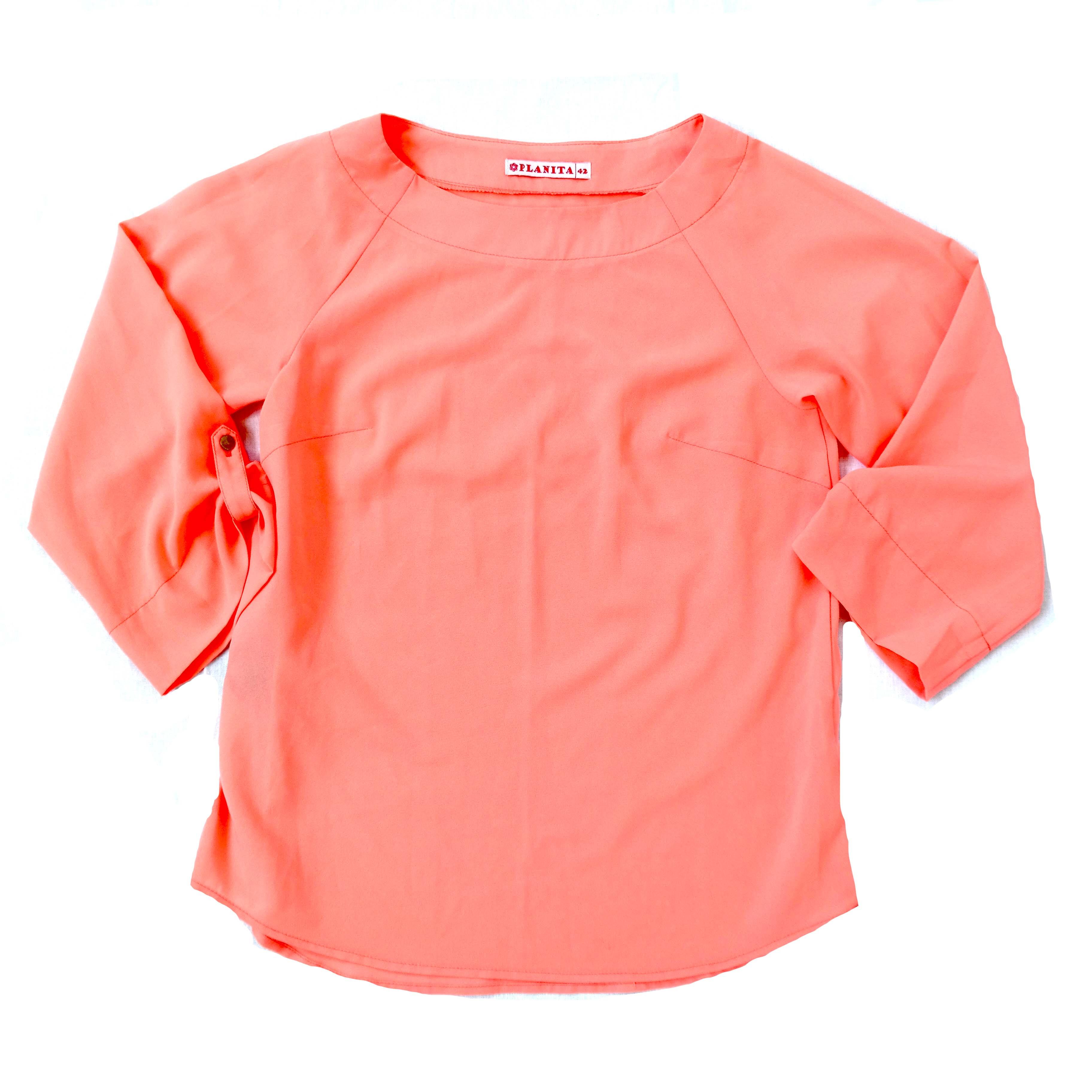 Персиковая женская блуза в Москве