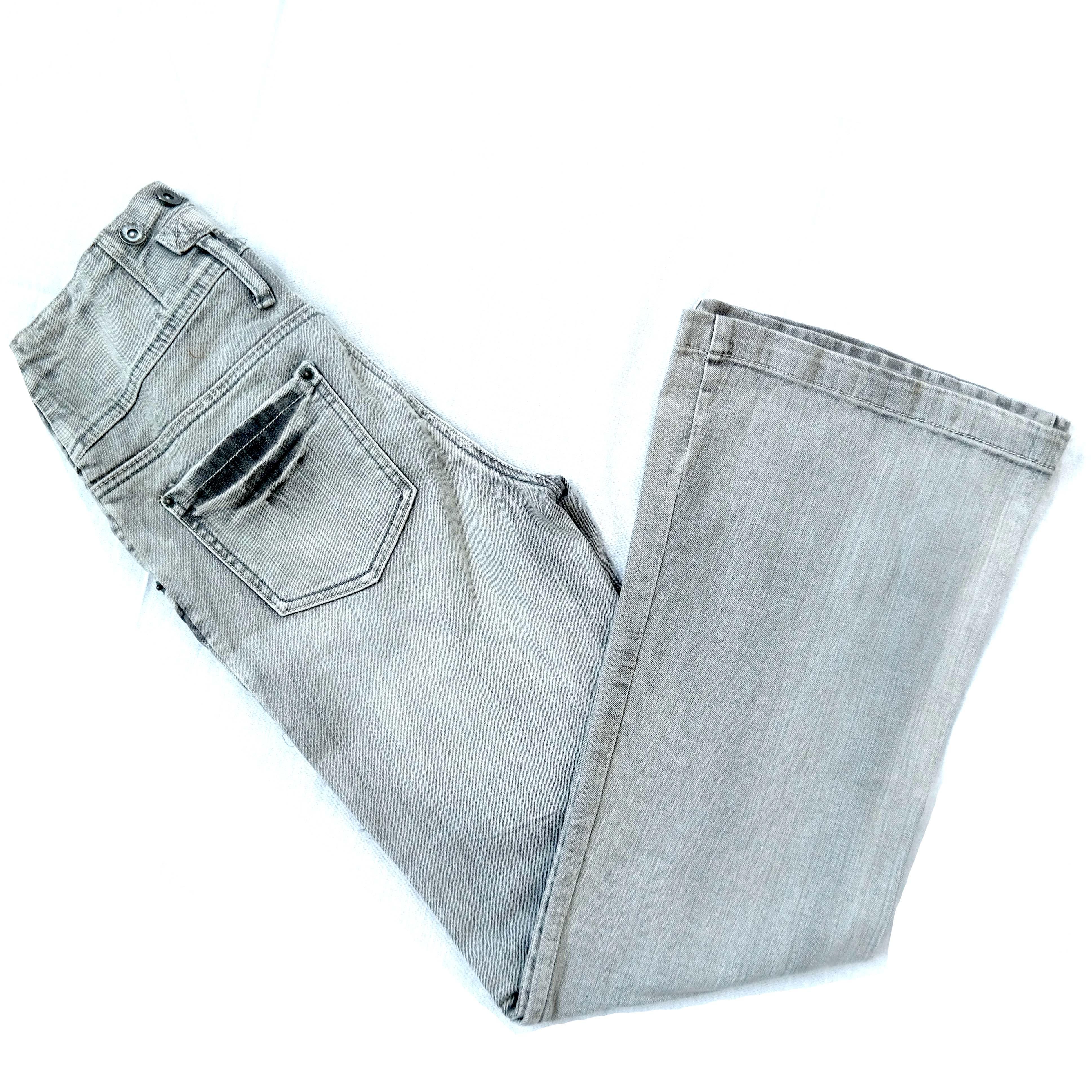 Женские серые джинсы-клеш в Челябинске