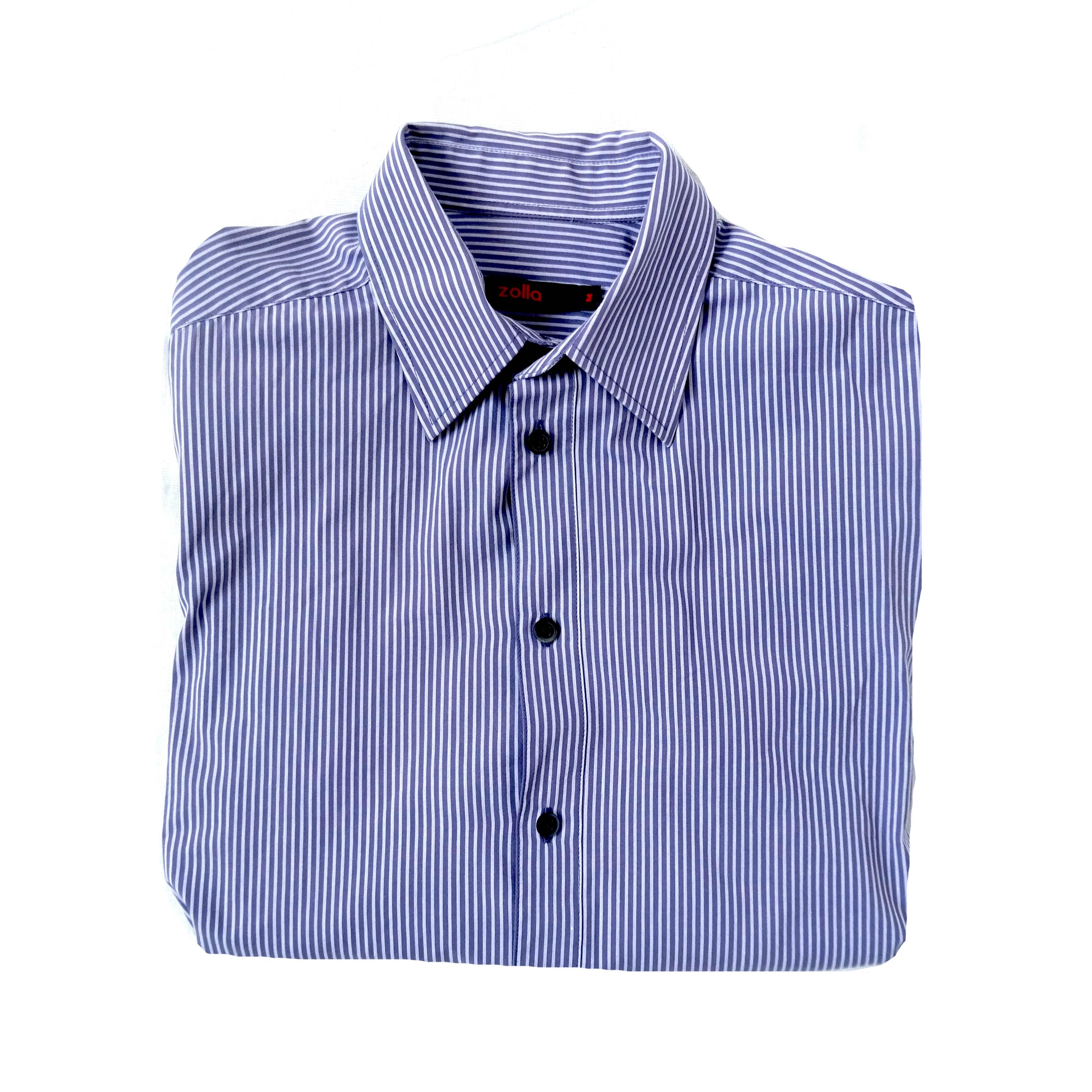 Мужская рубашка в мелкий рубчик с коротким рукавом в Москве