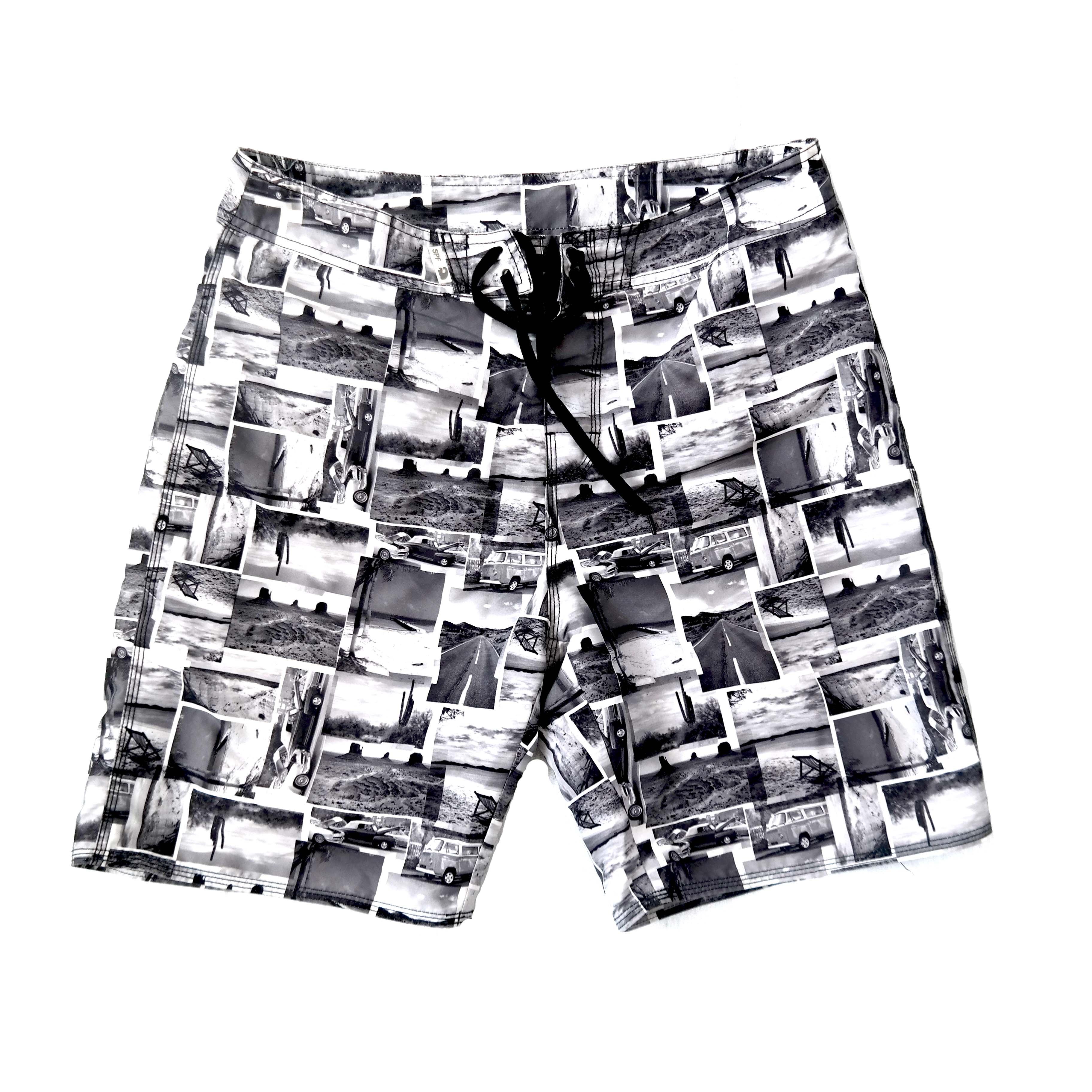Мужские шорты черно-белые в Челябинске