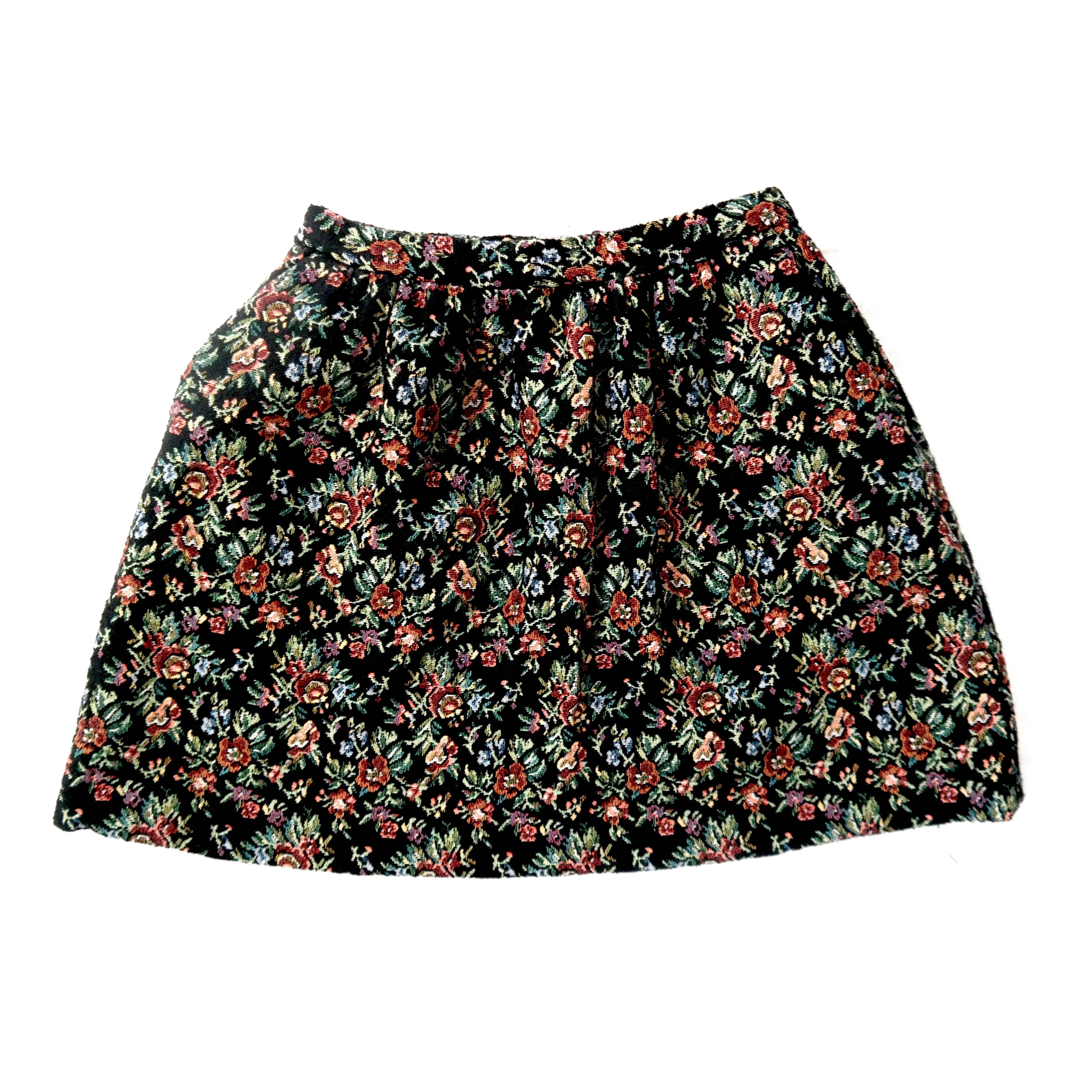 Женская мини-юбка с цветочным принтом в Москве