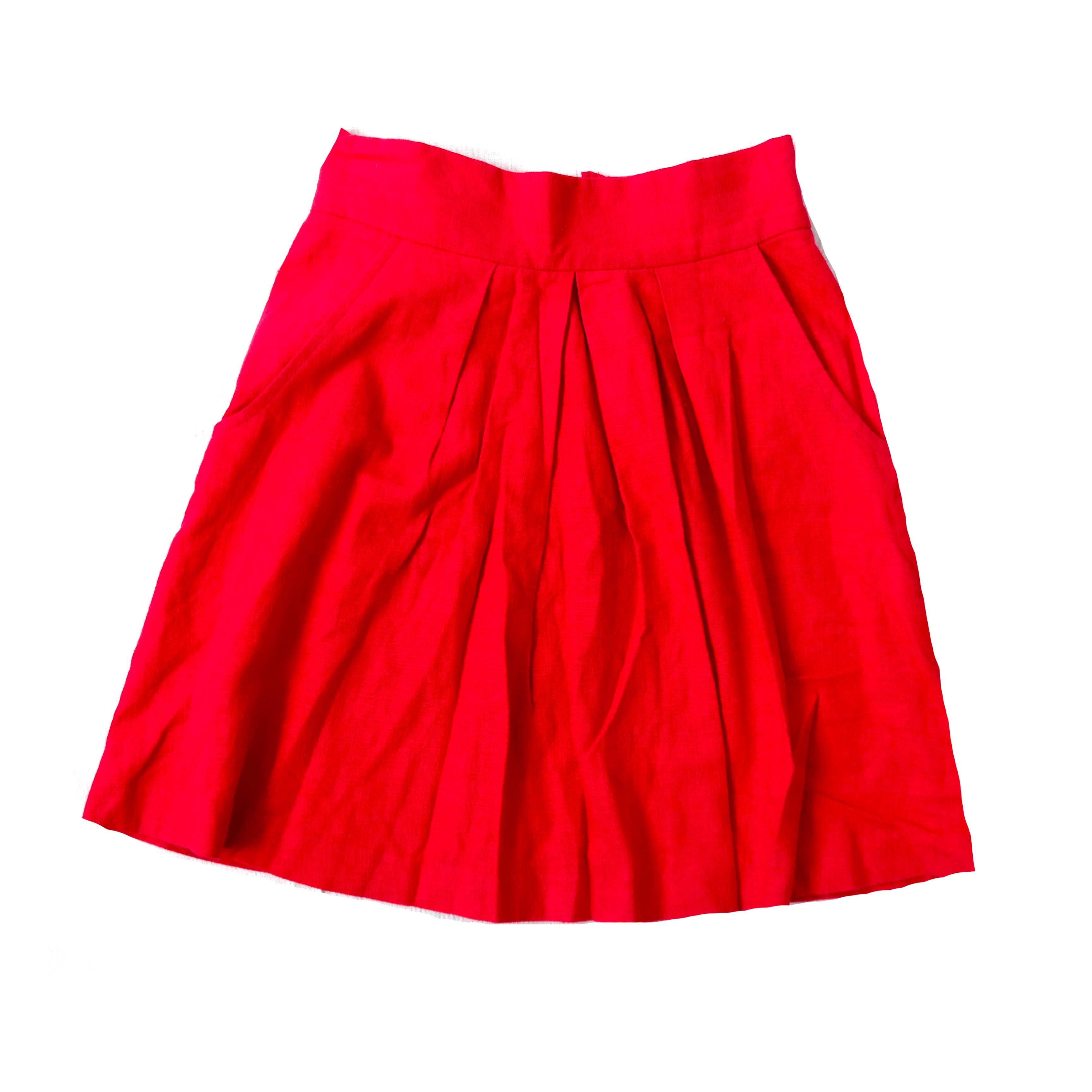 Красная женская юбка в Москве