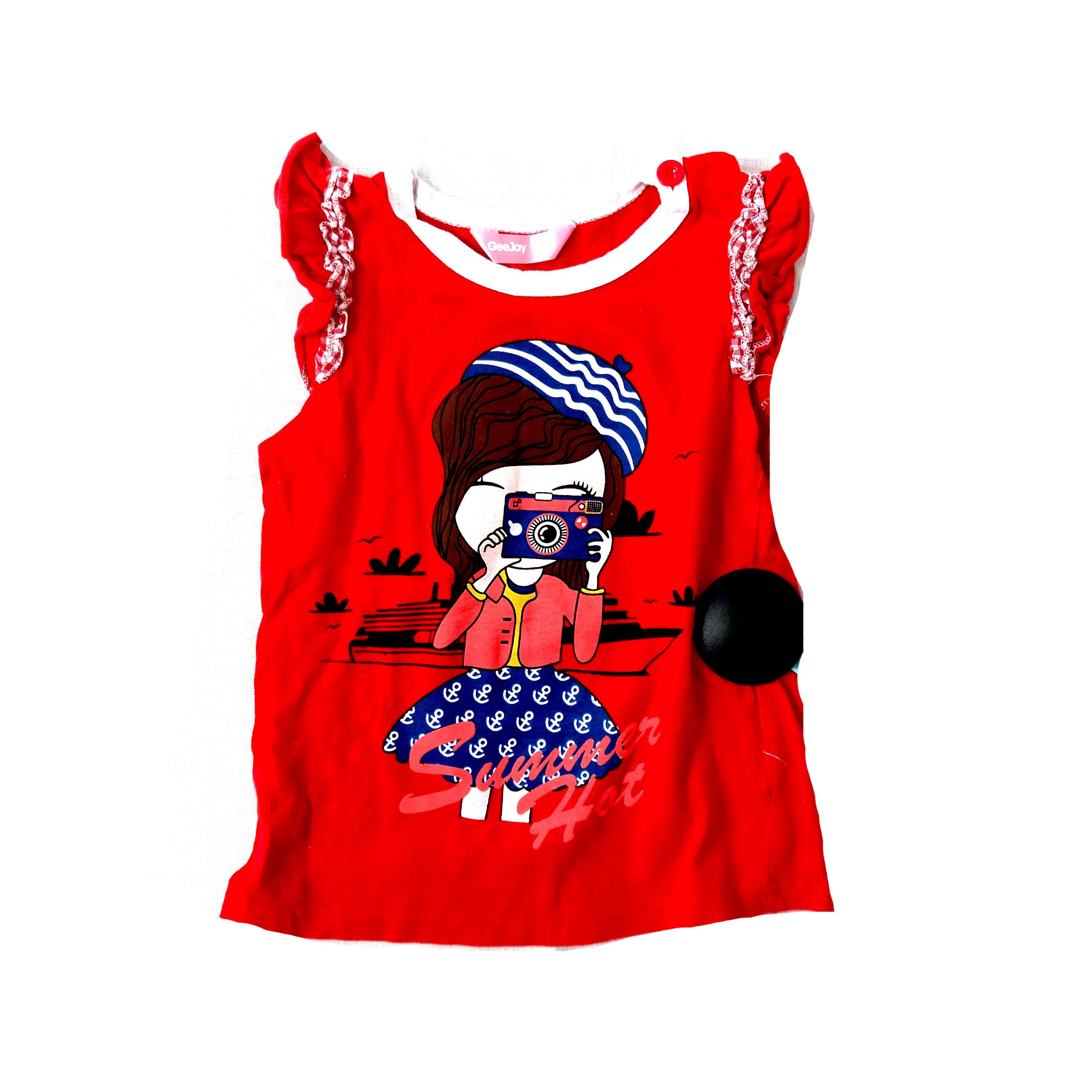 Детская красная блуза для девочек в Москве