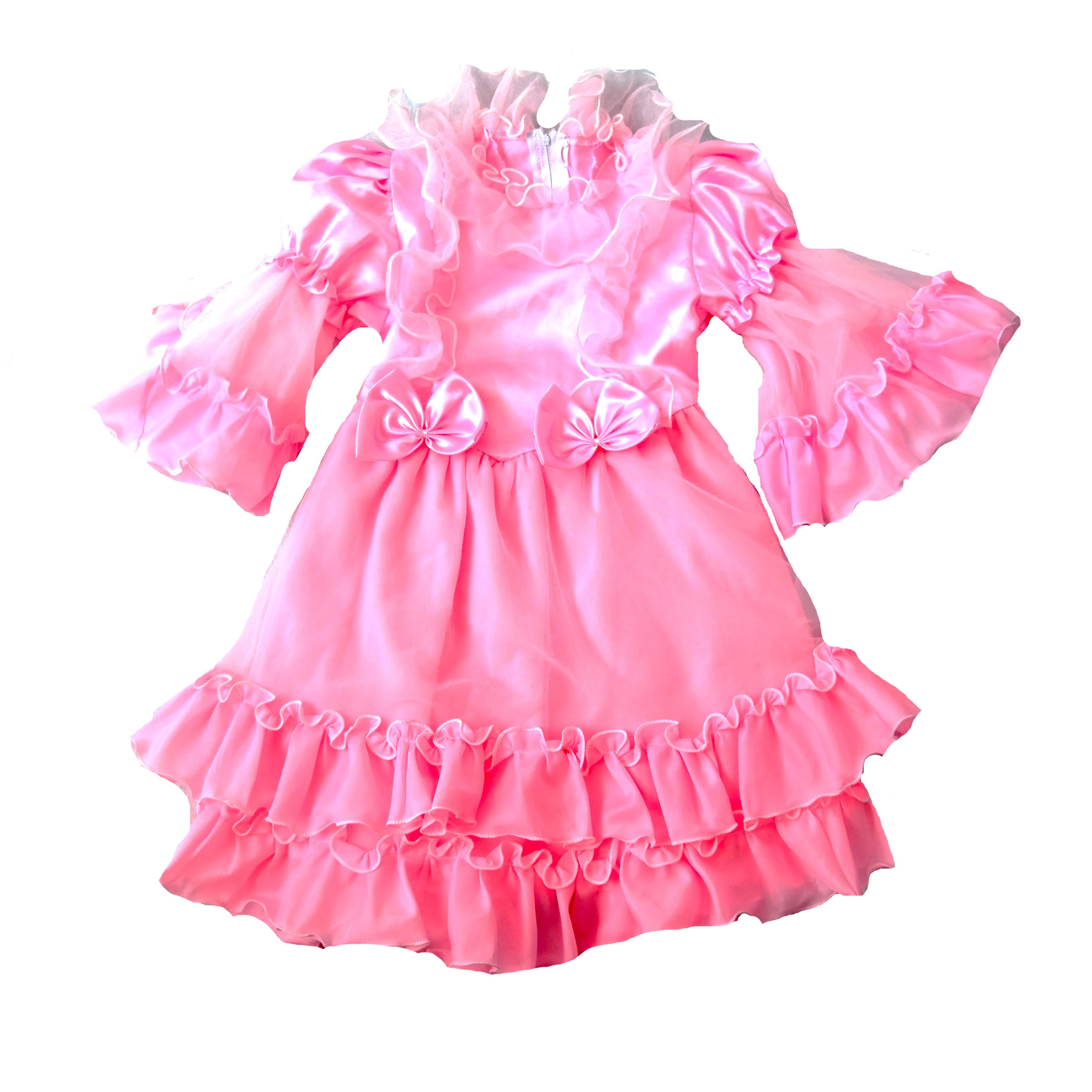 Детское пышное розовое платье для девочек в Москве