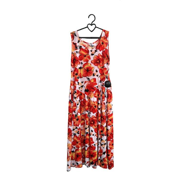 Женское летнее платье с цветочным принтом в Москве
