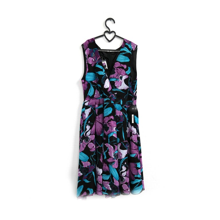 Женское платье с цветочным принтом фиолетовое в Челябинске
