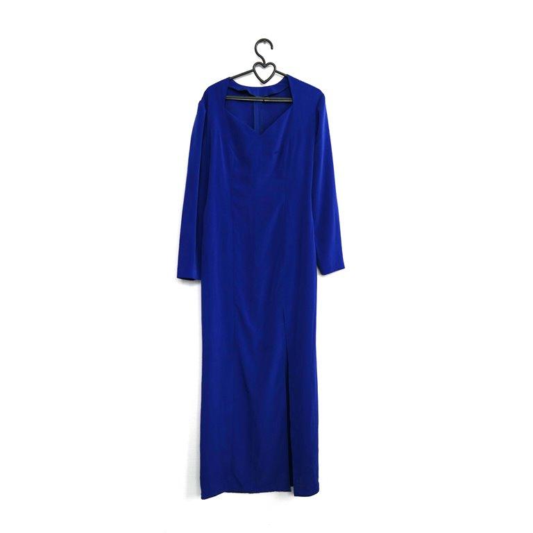 Женское длинное платье синее в Челябинске