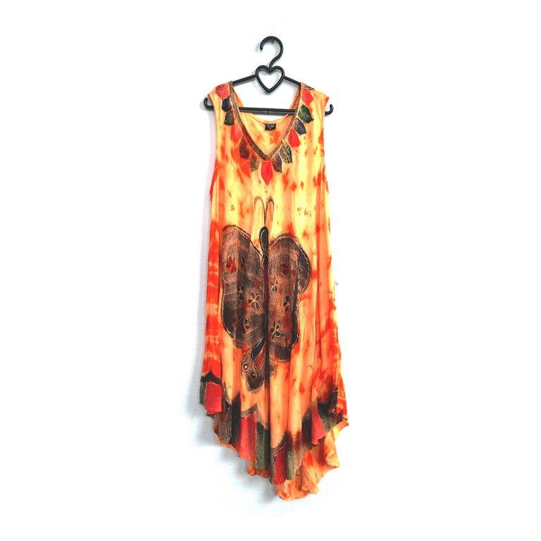 Женское платье оранжевое  в Челябинске