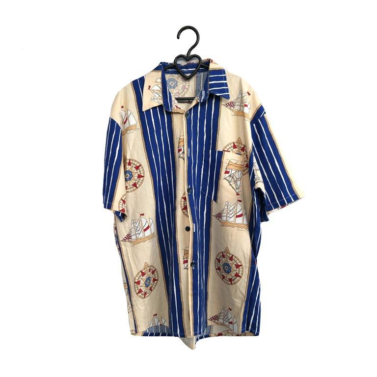 Мужская рубашка с морскими мотивами в Москве