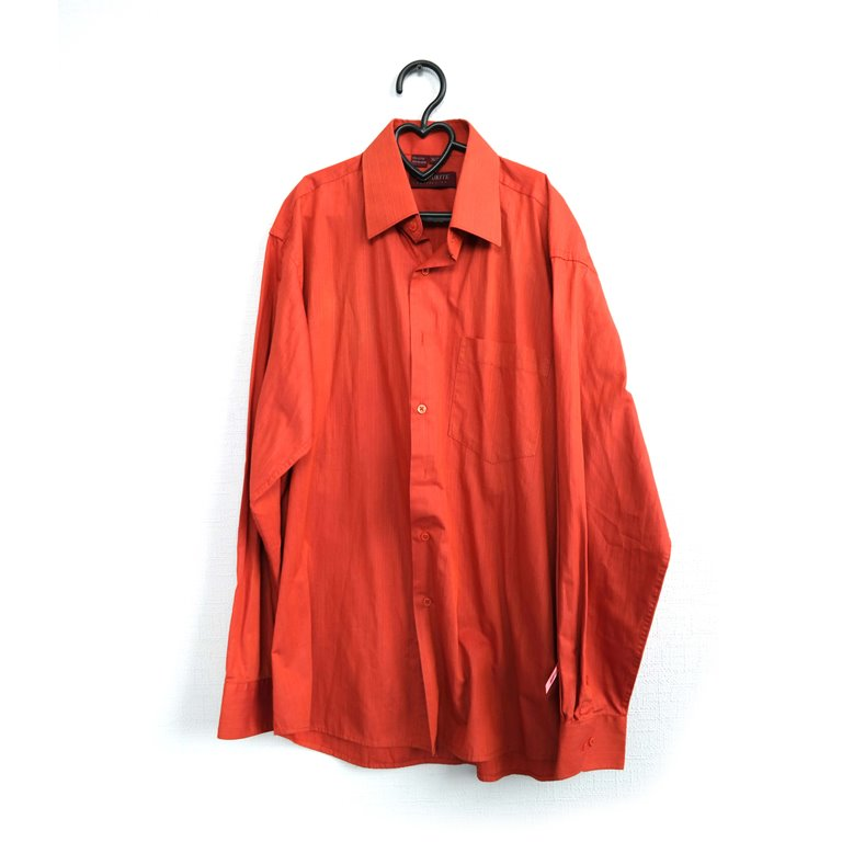 Рубашка мужская с длинным рукавом оранжевая в Челябинске
