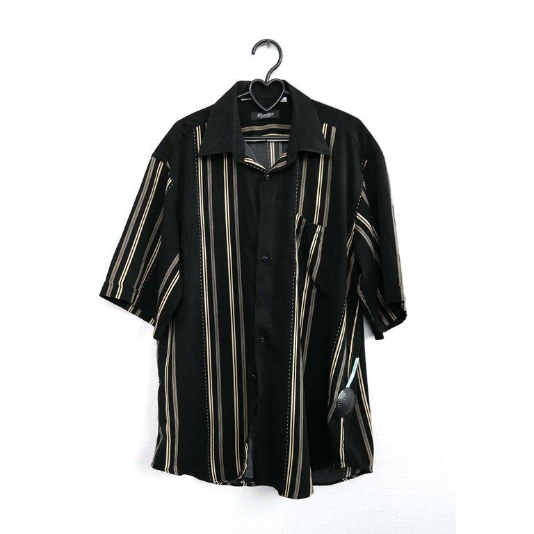 Мужская рубашка черная с коротким рукавом в Москве