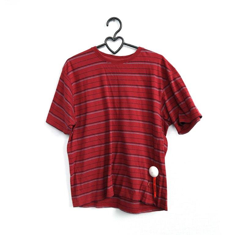 Мужская полосатая футболка красная в Челябинске