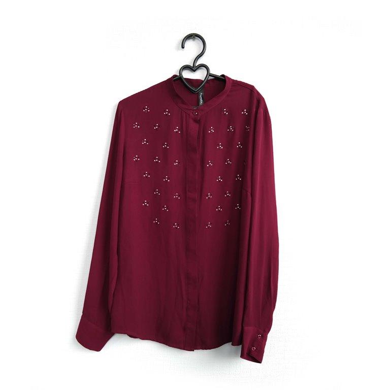 Женская блуза бордовая в Москве