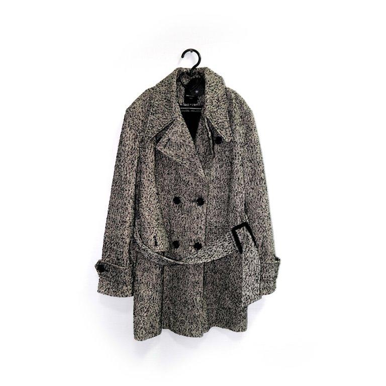 Пальто короткое женское серое  в Москве