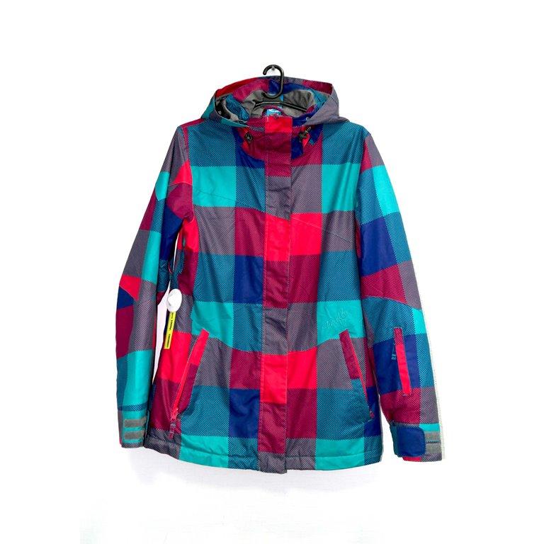 Куртка женская в синюю и красную клетку в Челябинске