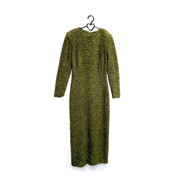 Платье женское теплое зеленое в Челябинске