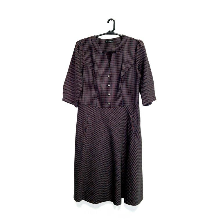 Платье женское в клетку с карманами в Челябинске